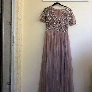 ASOS sequin and tulle dress